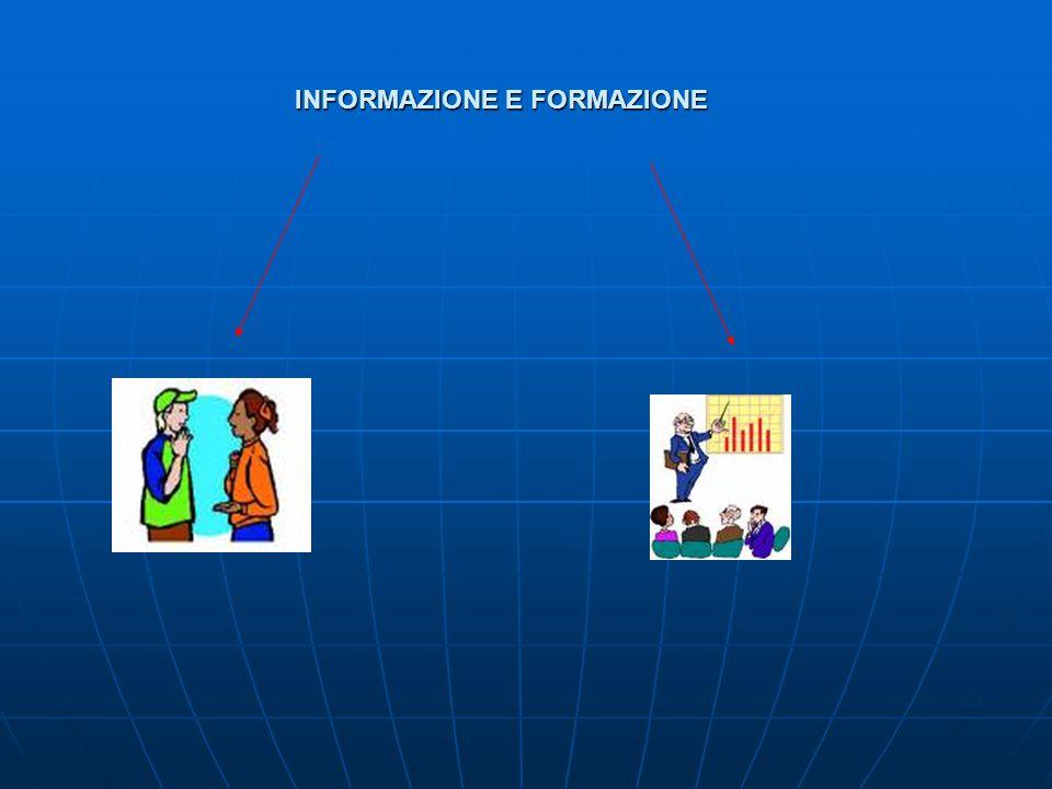 INFORMAZIONE E FORMAZIONE INFORMAZIONE E FORMAZIONE
