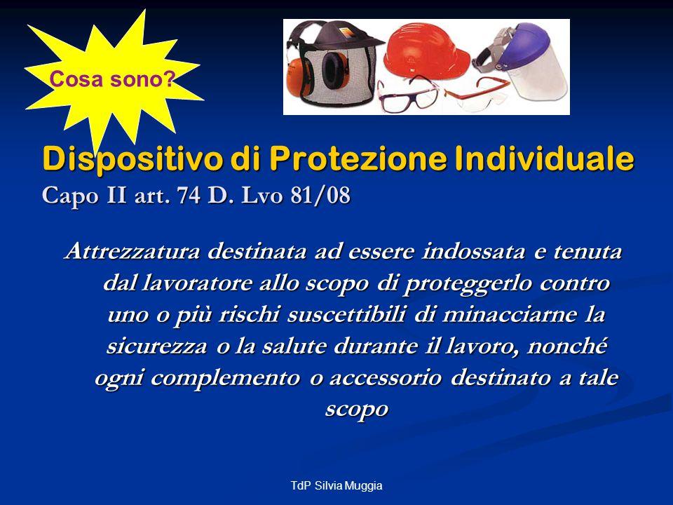 TdP Silvia Muggia Protezione delle mani