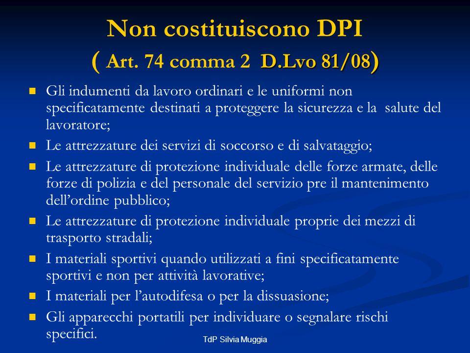 TdP Silvia Muggia OBBLIGO DI USO Art.