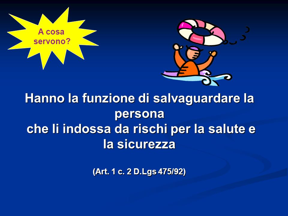 TdP Silvia Muggia Requisiti dei DPI art.