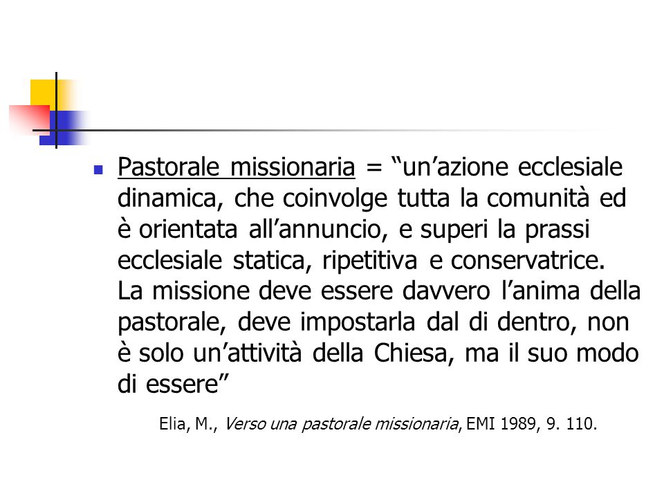 Qualità di una buona Missione popolare: l'ecclesialità la località la stabilità