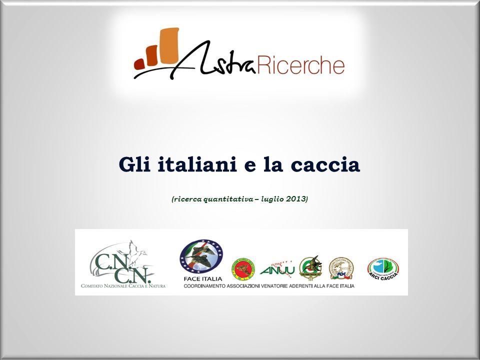 Gli italiani e la caccia (ricerca quantitativa – luglio 2013)