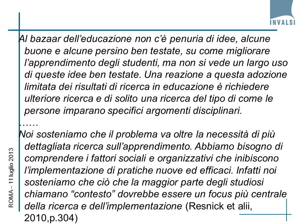 Al bazaar dell'educazione non c'è penuria di idee, alcune buone e alcune persino ben testate, su come migliorare l'apprendimento degli studenti, ma non si vede un largo uso di queste idee ben testate.