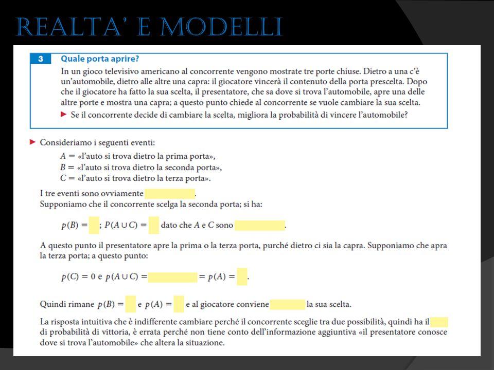 REALTA' E MODELLI