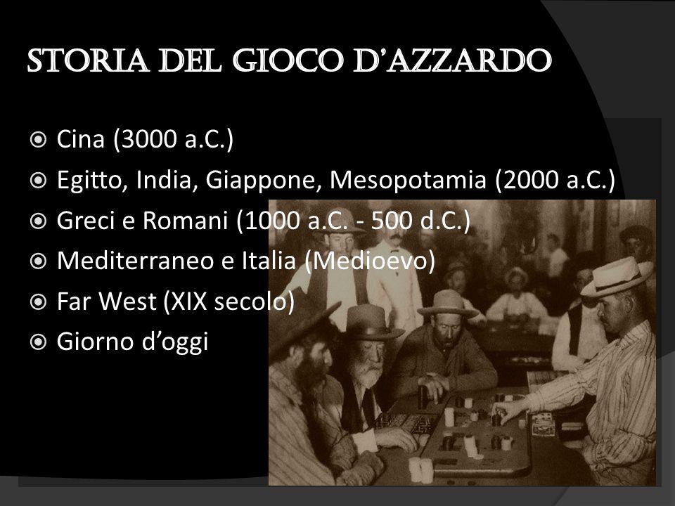  Cina (3000 a.C.)  Egitto, India, Giappone, Mesopotamia (2000 a.C.)  Greci e Romani (1000 a.C. - 500 d.C.)  Mediterraneo e Italia (Medioevo)  Far