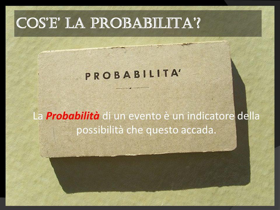 La Probabilità di un evento è un indicatore della possibilità che questo accada.