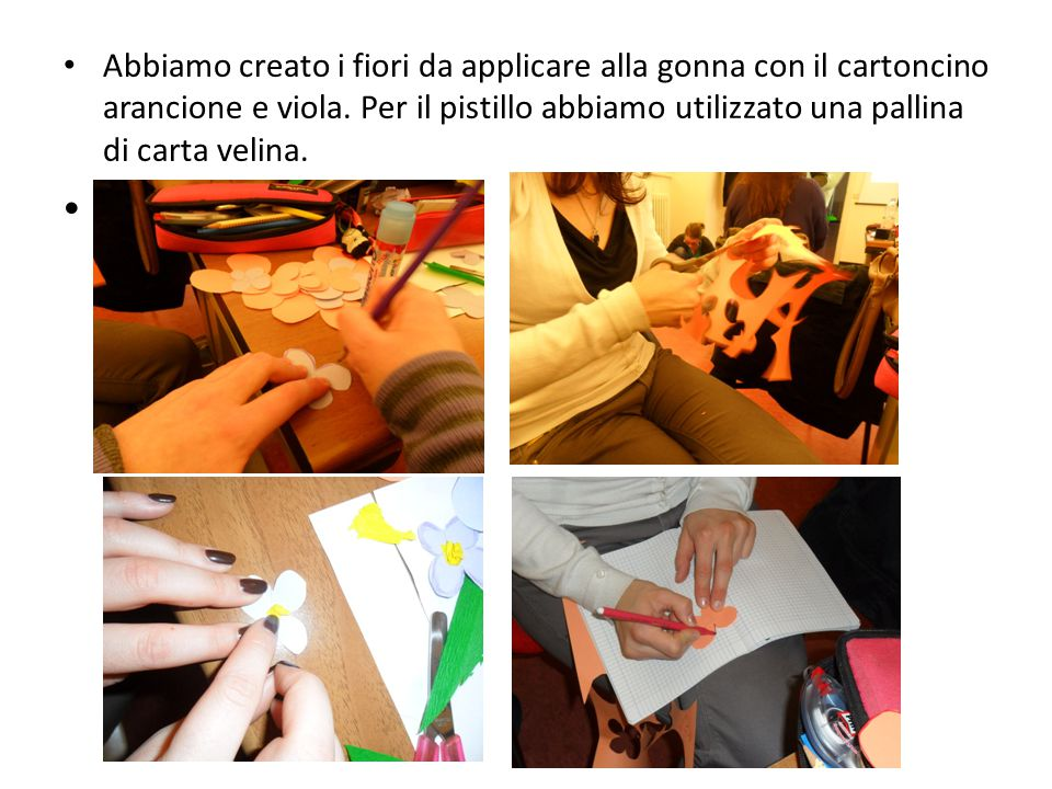 Li abbiamo applicati alla gonna….