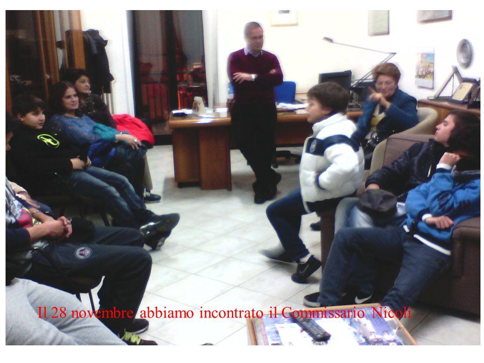 Il 28 novembre abbiamo incontrato il Commissario Nicolì
