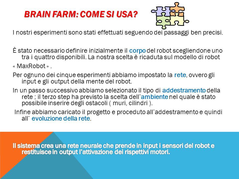BRAIN FARM: COME SI USA?