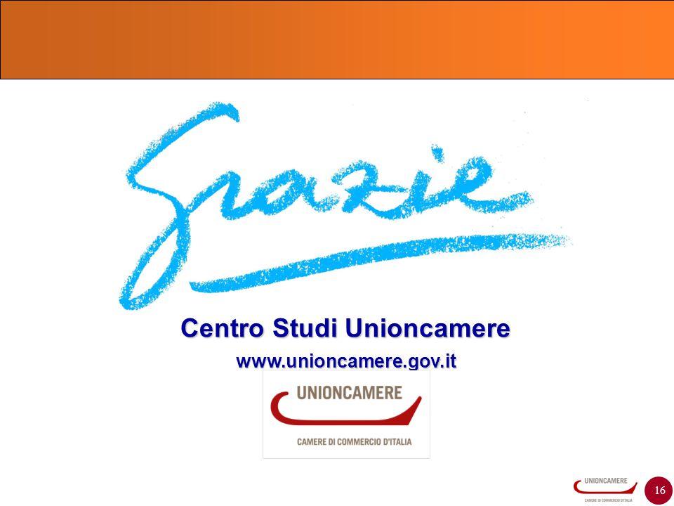 16 Centro Studi Unioncamere www.unioncamere.gov.it