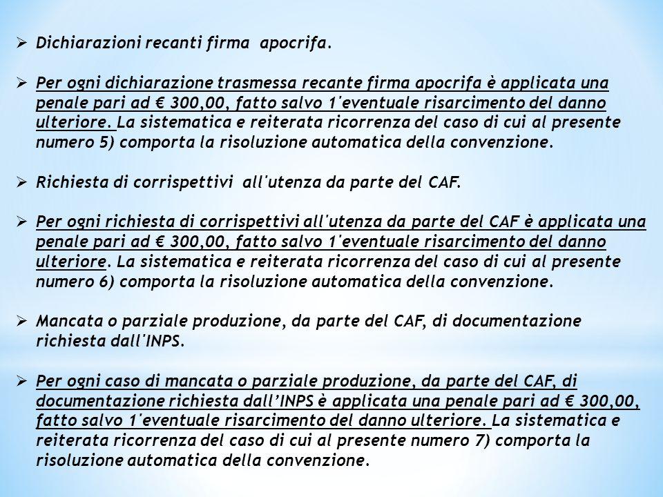  Si indica di seguito il procedimento di verifica delle dichiarazioni e di applicazione del sistema di penali di cui al presente articolo.