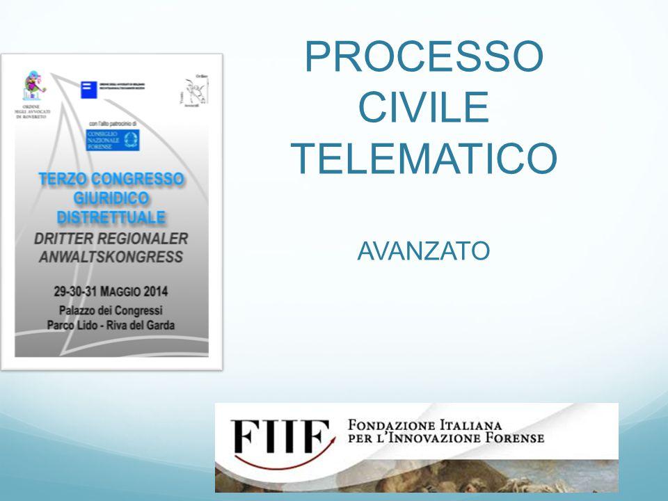 PROCESSO CIVILE TELEMATICO AVANZATO