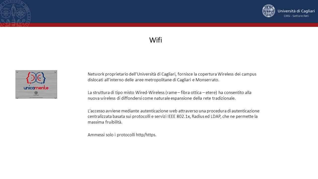 Network proprietario dell'Università di Cagliari, fornisce la copertura Wireless dei campus dislocati all'interno delle aree metropolitane di Cagliari