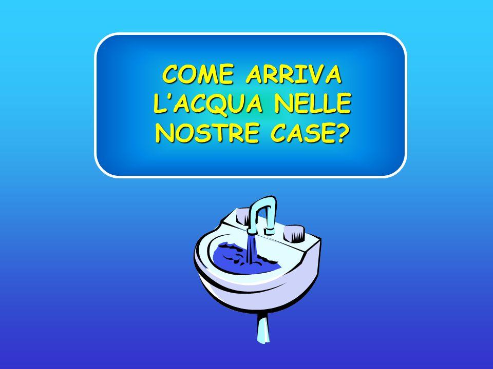 COME ARRIVA L'ACQUA NELLE NOSTRE CASE?