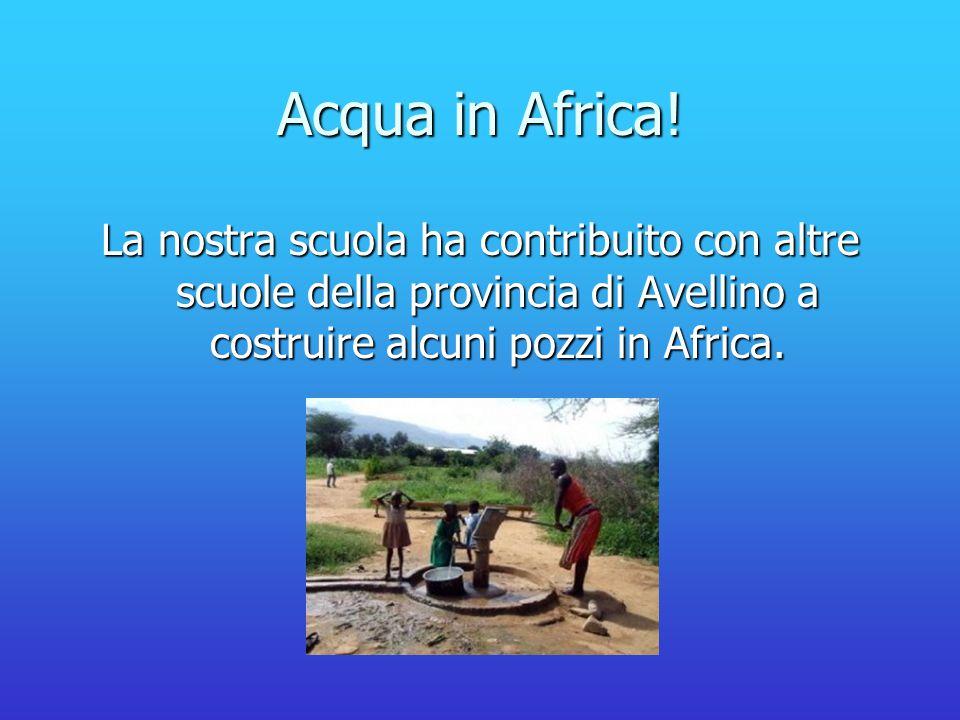 Acqua in Africa! La nostra scuola ha contribuito con altre scuole della provincia di Avellino a costruire alcuni pozzi in Africa.