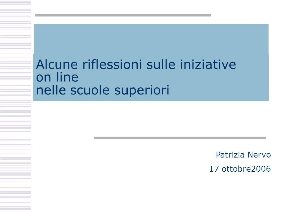 Patrizia Nervo - 16 ottobre 2006 Domande a risposta variabile (2) L'interattività.