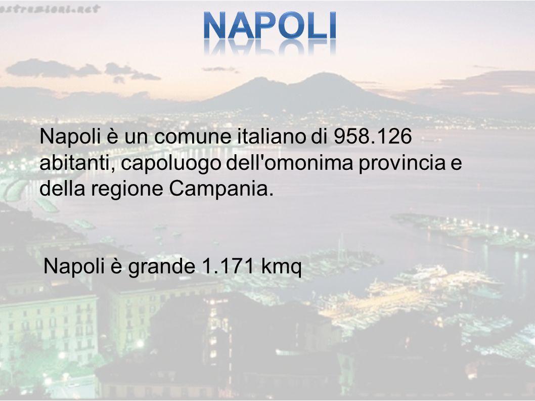 Napoli è un comune italiano di 958.126 abitanti, capoluogo dell'omonima provincia e della regione Campania. Napoli è grande 1.171 kmq
