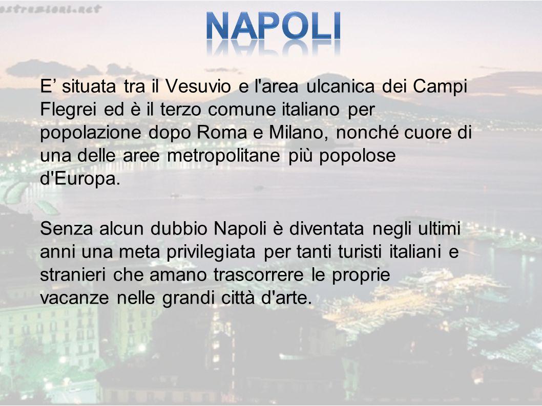 E' situata tra il Vesuvio e l area ulcanica dei Campi Flegrei ed è il terzo comune italiano per popolazione dopo Roma e Milano, nonché cuore di una delle aree metropolitane più popolose d Europa.
