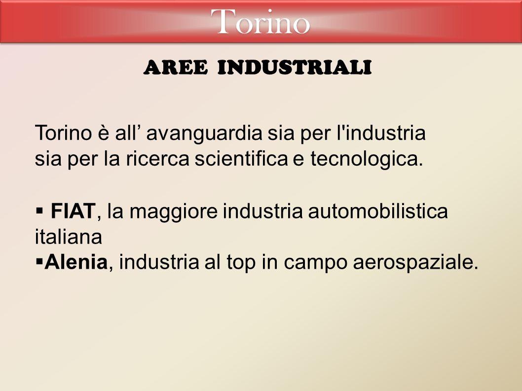 Torino è all' avanguardia sia per l industria sia per la ricerca scientifica e tecnologica.