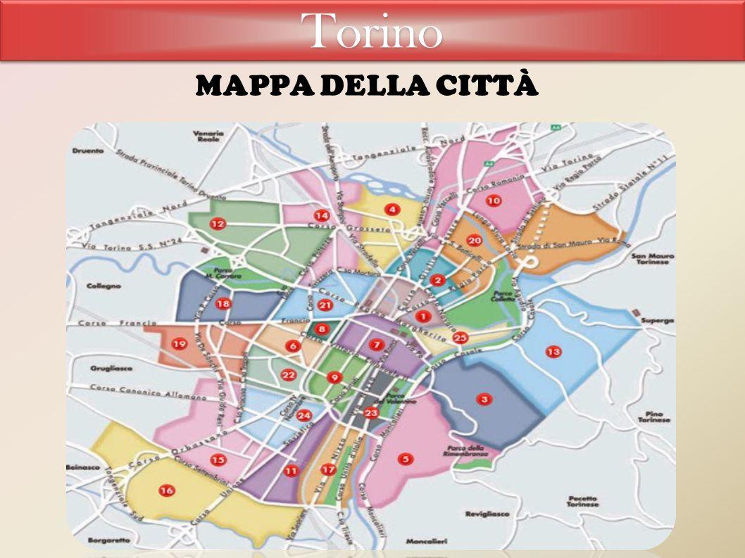 Torino MAPPA DELLA CITTÀ