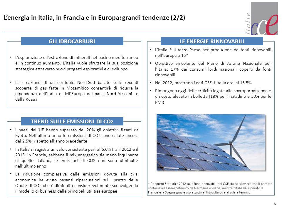 Principi chiave in materia di energia e ambiente emersi nel consiglio di Primavera EU (marzo 2014) a cui hanno partecipato i capi di Stato dei diversi stati membri 4 SINTESI DEI PRINCIPI Migliorare ulteriormente la coerenza tra riduzione delle emissioni di gas a effetto serra, efficienza energetica e impiego delle energie rinnovabili e conseguire gli obiettivi per il 2030 in modo efficace rispetto ai costi, con un sistema di scambio di quote di emissione riformato che rivesta un ruolo centrale a questo riguardo Sviluppare un quadro di sostegno dell UE per promuovere le energie rinnovabili e assicurare la competitività internazionale Garantire la sicurezza dell approvvigionamento energetico per le famiglie e le imprese a prezzi accessibili e competitivi Garantire agli Stati membri una certa flessibilità quanto al modo di onorare gli impegni assunti, al fine di tenere conto delle diverse situazioni nazionali e rispettare la libertà degli Stati di determinare il proprio mix energetico Gli obiettivi di completamento del mercato interno dell energia entro il 2014 e di sviluppo delle interconnessioni in modo da porre fine all isolamento di Stati membri dalle reti europee di distribuzione del gas e dell energia elettrica entro il 2015 rimangono prioritari.