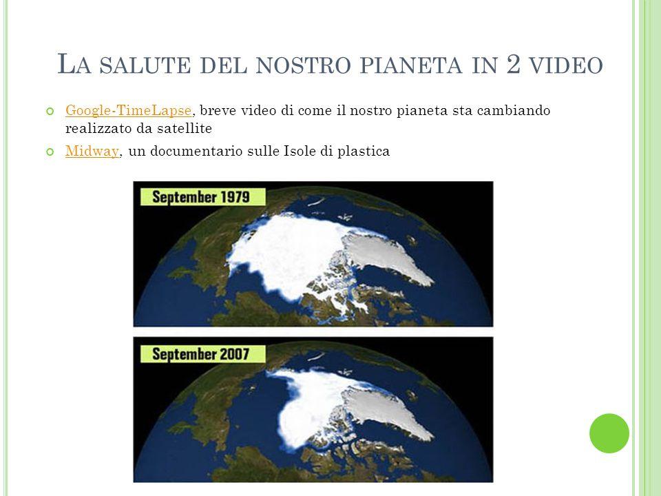 L A SALUTE DEL NOSTRO PIANETA IN 2 VIDEO Google-TimeLapseGoogle-TimeLapse, breve video di come il nostro pianeta sta cambiando realizzato da satellite