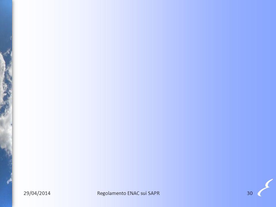 3029/04/2014Regolamento ENAC sui SAPR