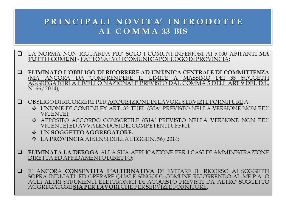FAQ RELATIVE A CENTRALI DI COMMITTENZA SALVO DIVERSA REGOLAMENTAZIONE ADOTTATA FONTE: http://www.asmecomm.it/centrale-di-committenza-faq DOMANDA: CHI FA LA GARA.