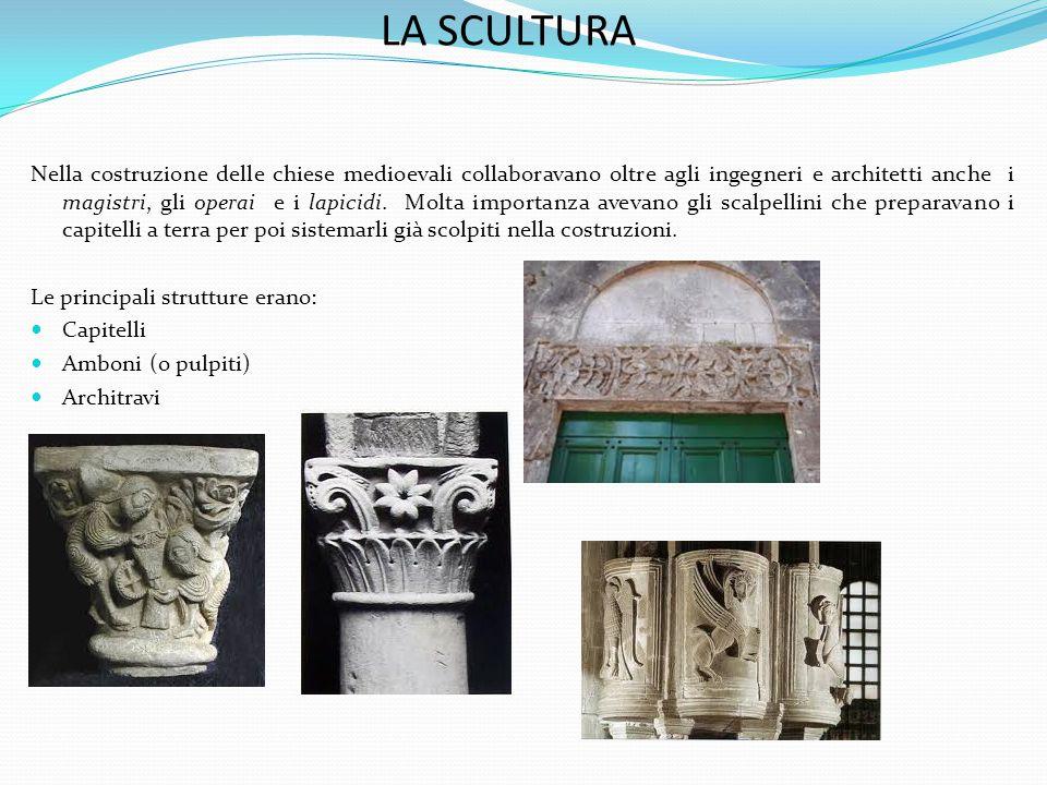 Nella costruzione delle chiese medioevali collaboravano oltre agli ingegneri e architetti anche i magistri, gli operai e i lapicidi.