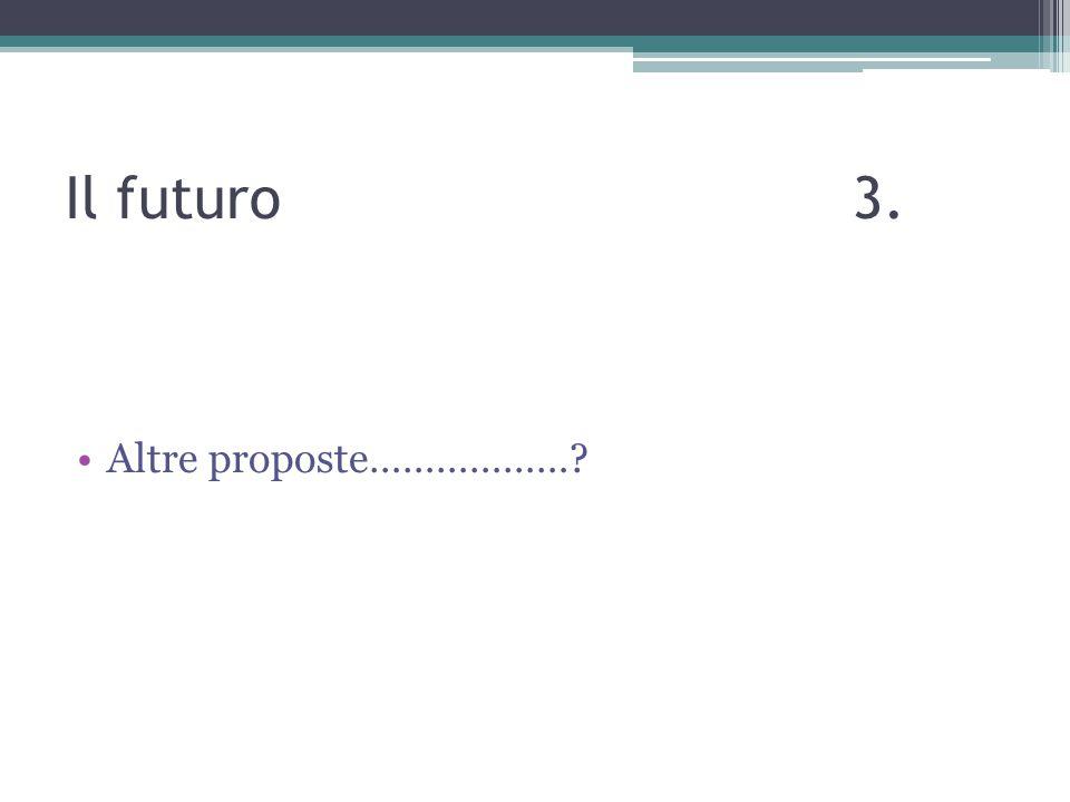 Il futuro 3. Altre proposte………………?
