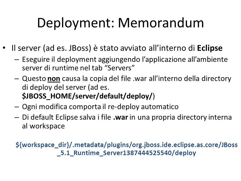 Deployment: Memorandum