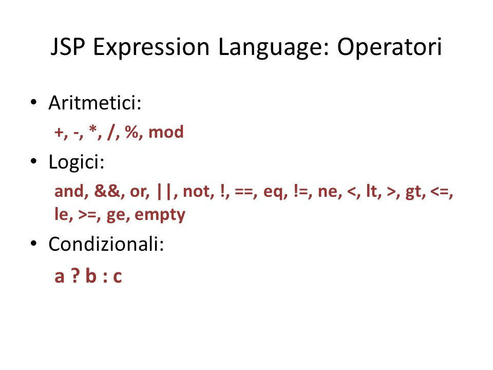 jstl expression language: