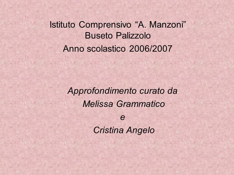 """Istituto Comprensivo """"A. Manzoni"""" Buseto Palizzolo Anno scolastico 2006/2007 Approfondimento curato da Melissa Grammatico e Cristina Angelo"""
