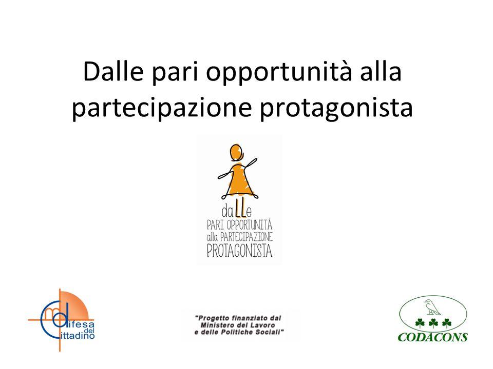 Dalle pari opportunità alla partecipazione protagonista