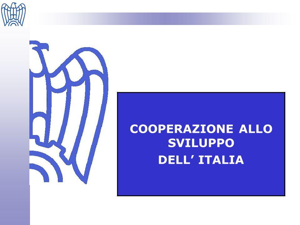 COOPERAZIONE ALLO SVILUPPO DELL' ITALIA STRUMENTI ORGANIZZAZIONE FLUSSI FINANZIARI