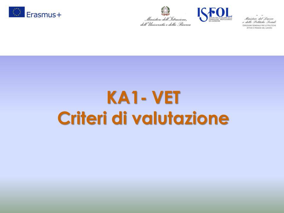 KA1- VET Criteri di valutazione