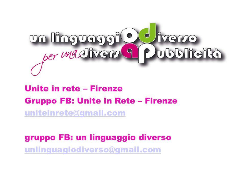 Dettagli bando 2014 Unite in rete – Firenze Gruppo FB: Unite in Rete – Firenze uniteinrete@gmail.com gruppo FB: un linguaggio diverso unlinguagiodiverso@gmail.com