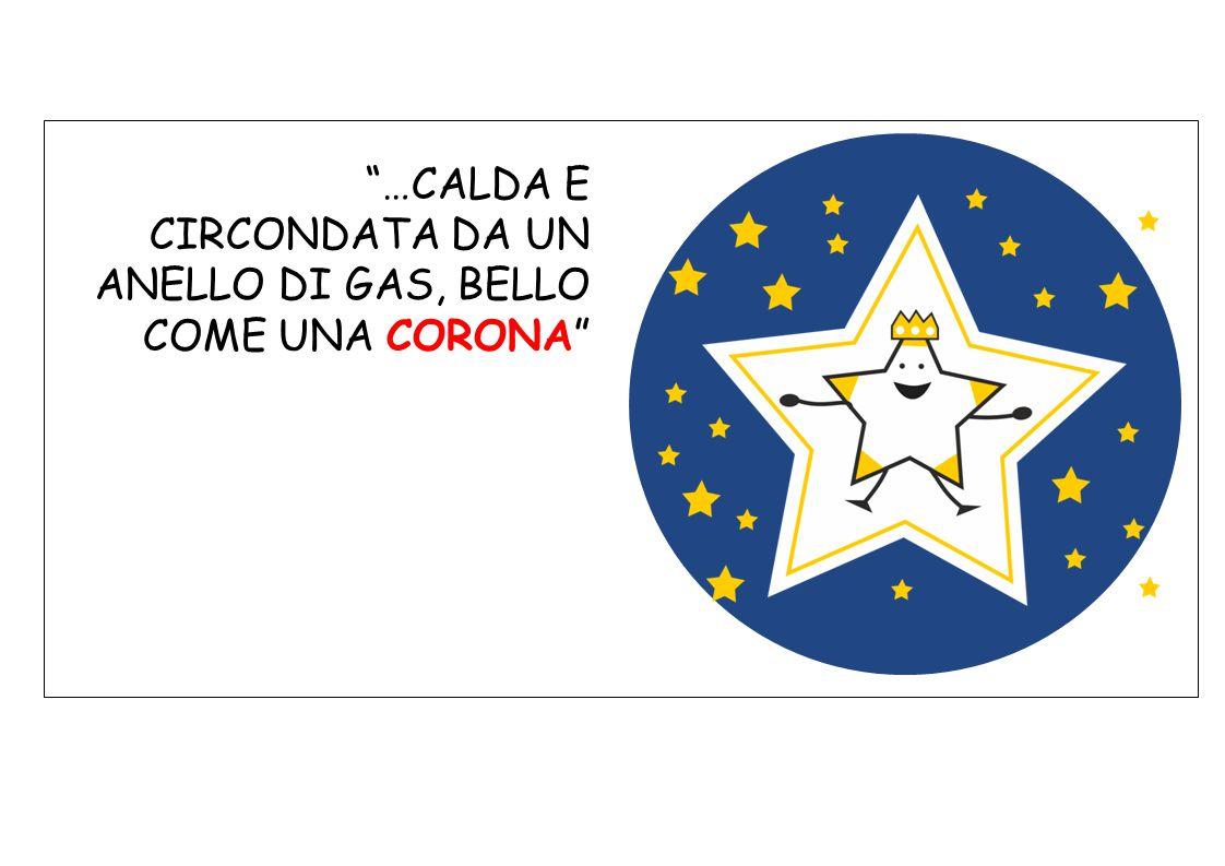 …CALDA E CIRCONDATA DA UN ANELLO DI GAS, BELLO COME UNA CORONA
