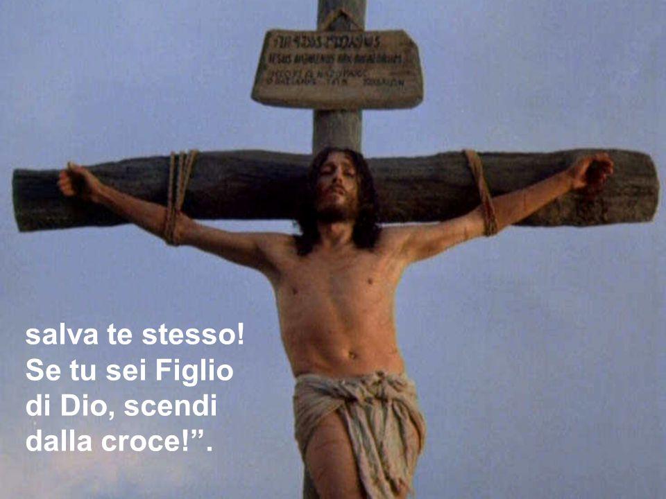 """salva te stesso! Se tu sei Figlio di Dio, scendi dalla croce!""""."""