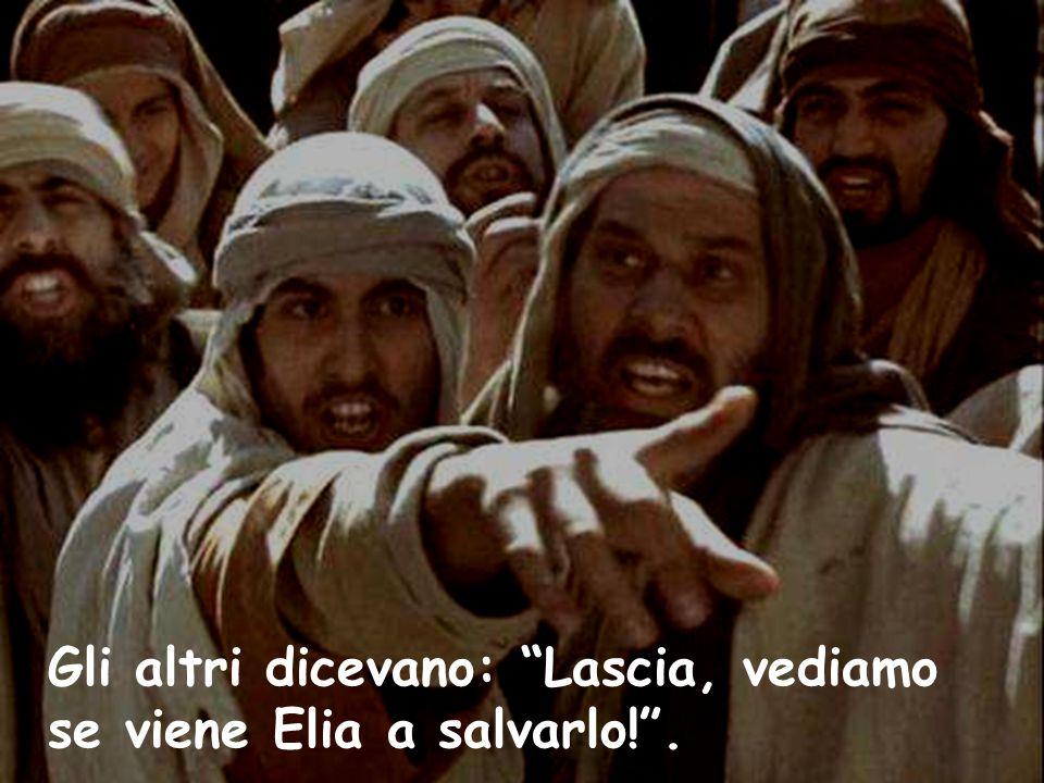 """Gli altri dicevano: """"Lascia, vediamo se viene Elia a salvarlo!""""."""