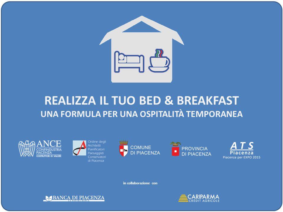 REALIZZA IL TUO BED & BREAKFAST UNA FORMULA PER UNA OSPITALITÀ TEMPORANEA BED & BREAKFASTROOM & BREAKFASTAFFITTACAMERE ART.