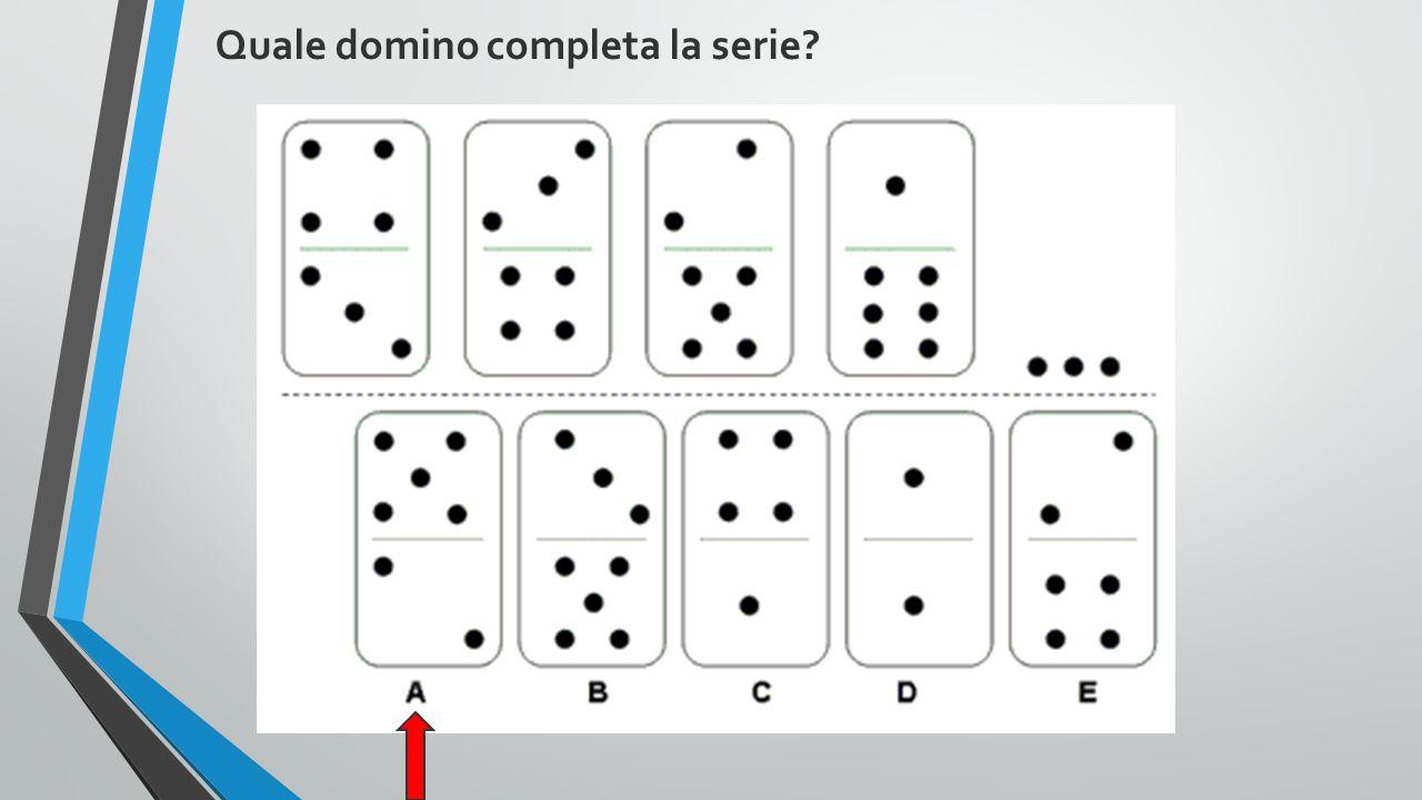 Quale domino completa la serie?