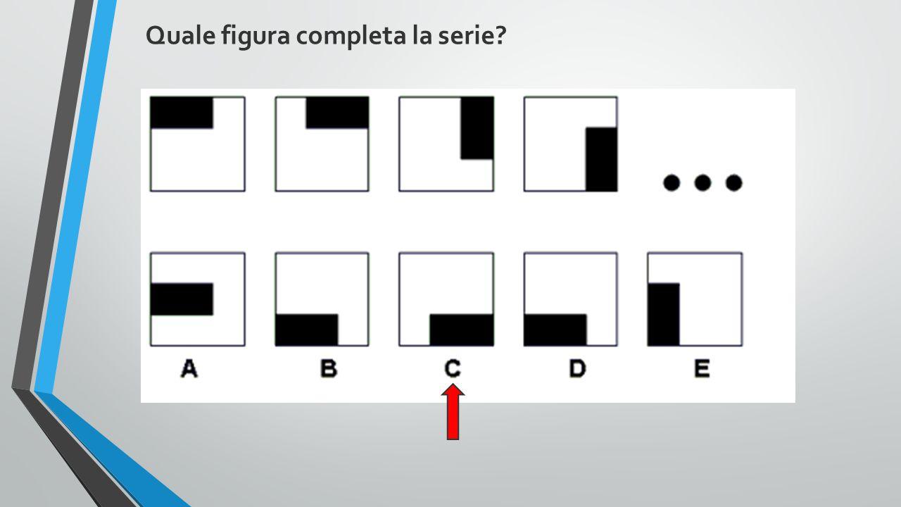 Quale figura completa la serie?
