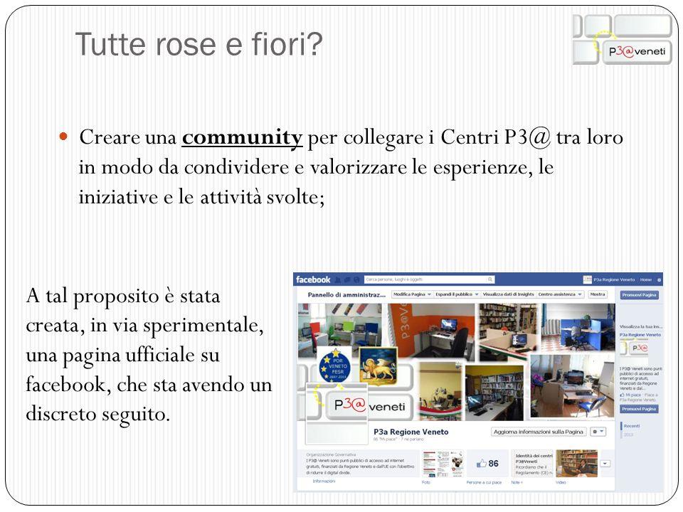 Tutte rose e fiori? Creare una community per collegare i Centri P3@ tra loro in modo da condividere e valorizzare le esperienze, le iniziative e le at