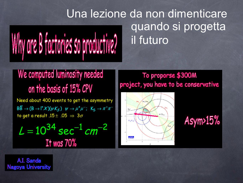 Una lezione da non dimenticare quando si progetta il futuro