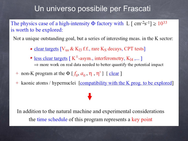 Un universo possibile per Frascati