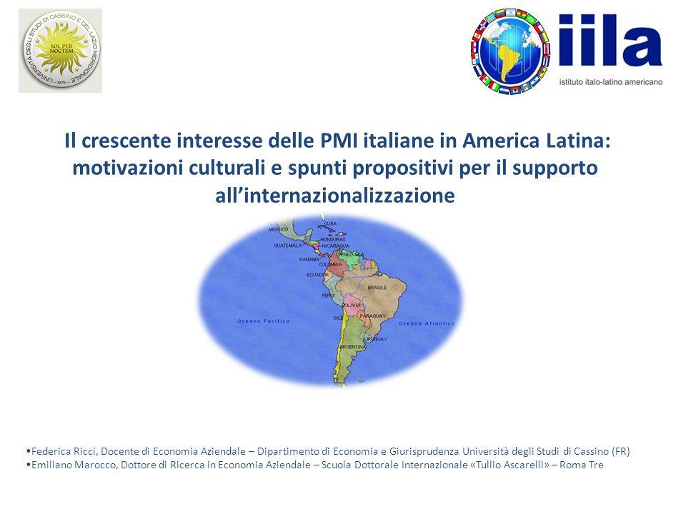 Il crescente interesse delle PMI italiane in America Latina: motivazioni culturali e spunti propositivi per il supporto all'internazionalizzazione Fed