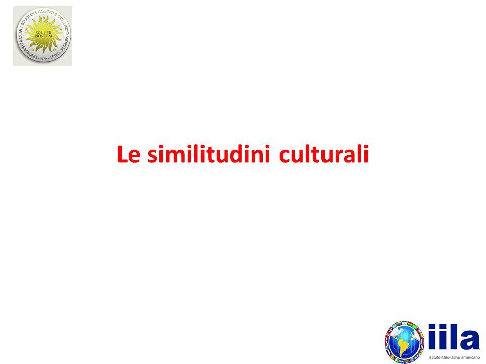 Le similitudini culturali