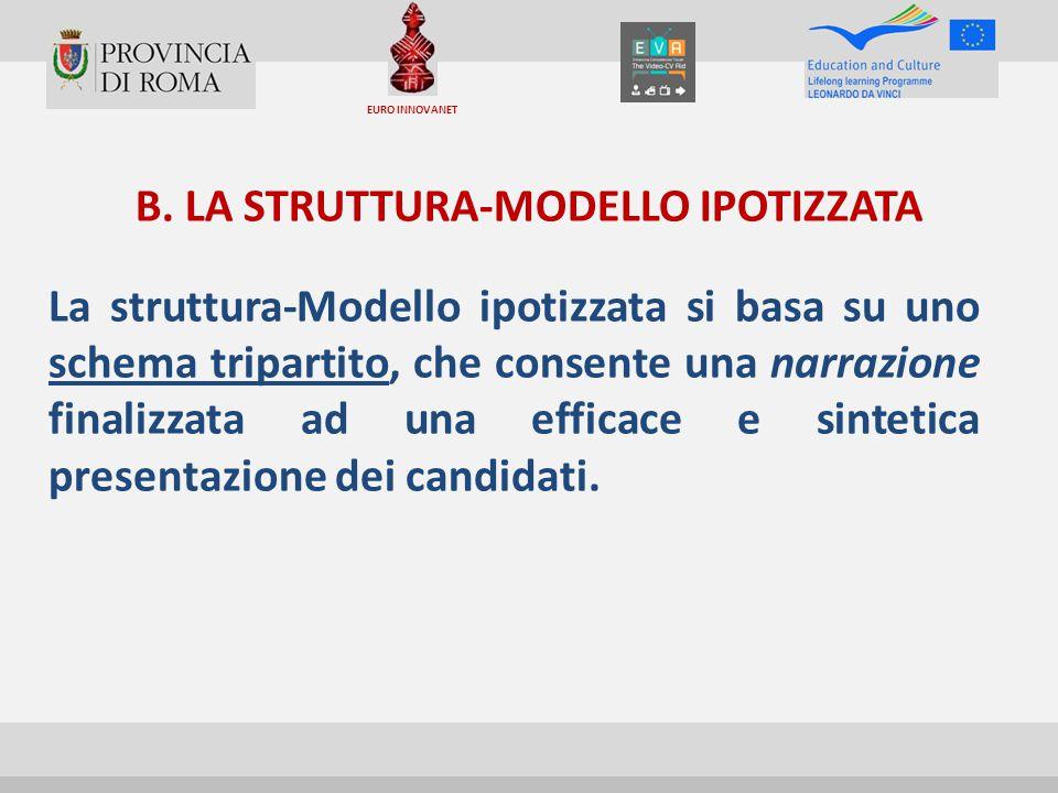 B. LA STRUTTURA-MODELLO IPOTIZZATA La struttura-Modello ipotizzata si basa su uno schema tripartito, che consente una narrazione finalizzata ad una ef