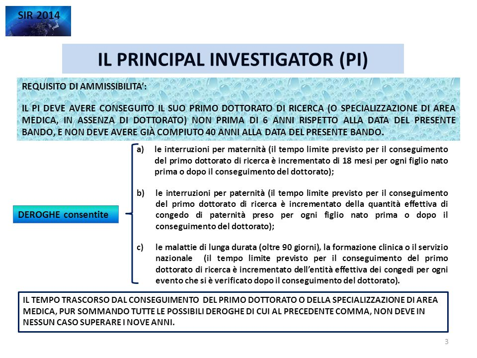 VALUTAZIONE E SELEZIONE DELLE PROPOSTE SIR 2014 C.d.S.